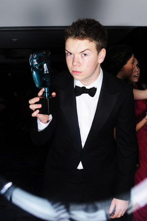 EE British Academy Film Awards, Selfie Booth, Royal Opera House, London, Britain - 16 Feb 2014 Will Poulter