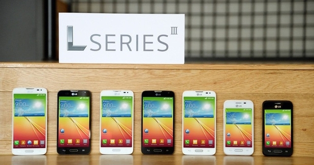 LG's L Series III smartphones on display
