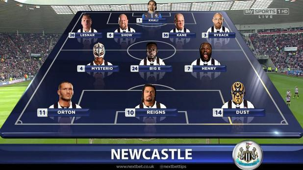 Newcastle United FC as WWE Superstars