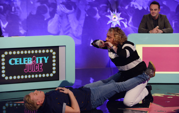 Rob Beckett and Keith Lemon on the Celebrity Juice: Saturday Night Takeaway special