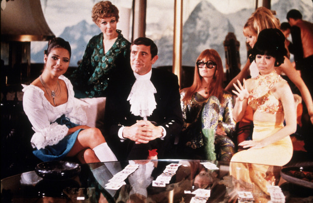 George Lazenby as James Bond in On Her Majesty's Secret Service