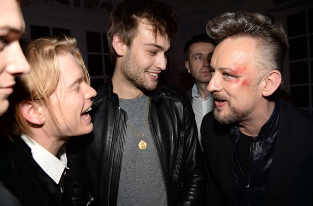 The BRIT Awards 2014 Warner Music Group After Party, London, Britain - 19 Feb 2014 Freddie Fox, Douglas Booth and Boy George 19 Feb 2014