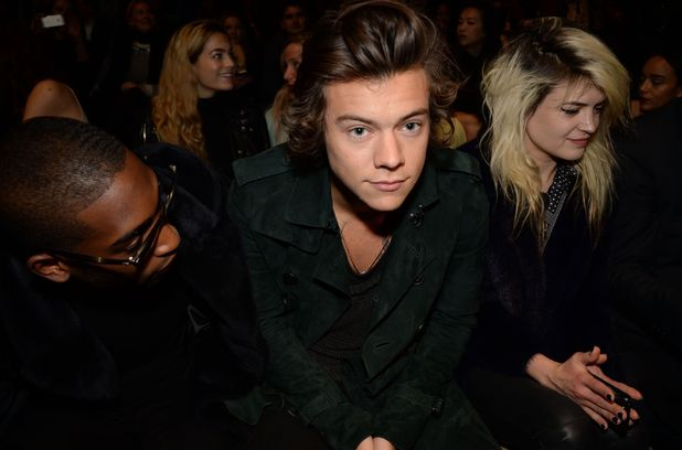 Burberry Prorsum Show, Autumn Winter 2014, London Fashion Week, Britain - 17 Feb 2014 Harry Styles 17 Feb 2014