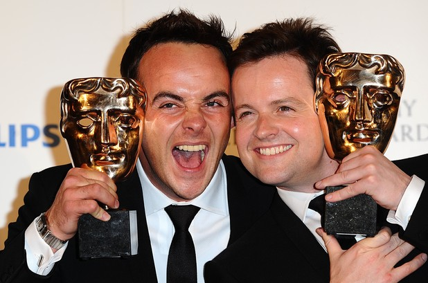 BAFTA TV awardsAnthony McPartlin (left) and Declan Donnelly (right) with the Entertainment Performance award received for I'm a Celebrity Get Me Out Of Here! at the BAFTA television awards at the London Palladium.