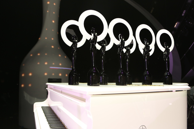 Brit Awards on Brits stage piano.