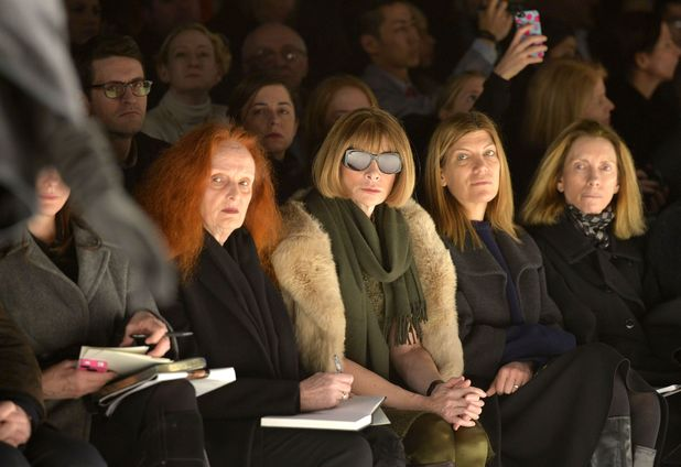 Carolina Herrera show, Autumn Winter 2014 Mercedes-Benz Fashion Week, New York, America - 10 Feb 2014Anna Wintour and Grace Coddington 10 Feb 2014