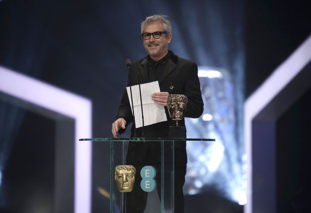 Alfonso Cuarón at the BAFTAs