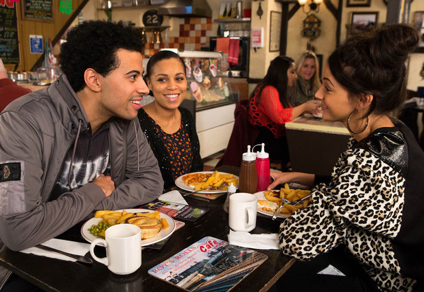 Steph moves into Tina's flat with the help of her brother Luke