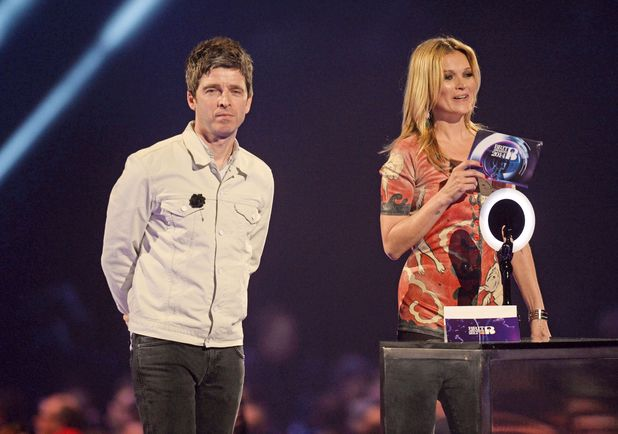 The Brit Awards, Show, O2 Arena, London, Britain - 19 Feb 2014 Noel Gallagher and Kate Moss 19 Feb 2014