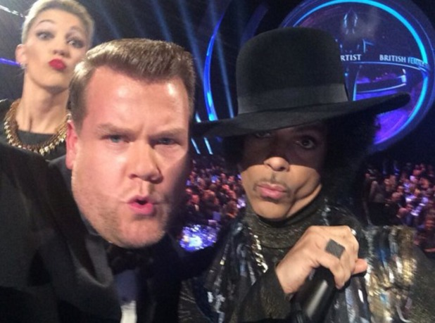 James Corden takes selfie with Prince