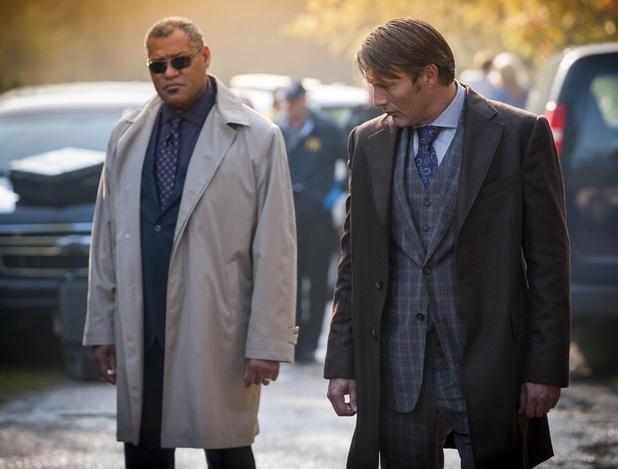 Laurence Fishburne & Mads Mikkelsen in Hannibal Season 2 Episode 1: 'Kaiseki'