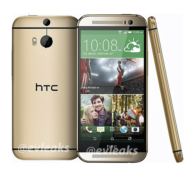 Leaked image of the All New HTC One in gold