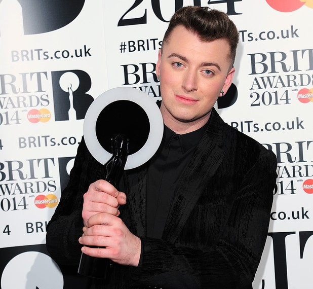 Sam Smith with the Critics Choice award, in the press room at the 2014 Brit Awards at the O2 Arena, London.