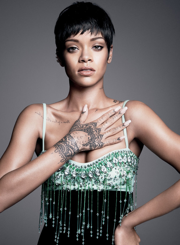 Rihanna in the March edition of Vogue