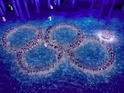 Performers recreate the famous malfunction that occurred during Opening Ceremony.
