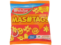 Emoticons and hashtags are among the different shapes in the new Birds Eye range.