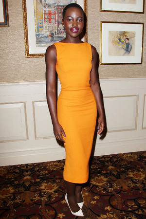 '12 Years a Slave' film luncheon, New York, America - 07 Jan 2014 Lupita Nyong'o 7 Jan 2014 WEARING CHRISTIAN DIOR