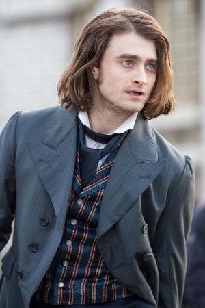 Daniel Radcliffe shooting scenes for the film remake of 'Frankenstein'