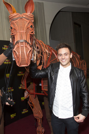 'War Horse' NT Live Gala performance at the New London Theatre, London, Britain - 27 Feb 2014 Tom Daley with Joey
