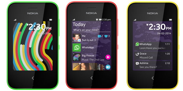 The Nokia Asha 230 was announced at MWC 2014