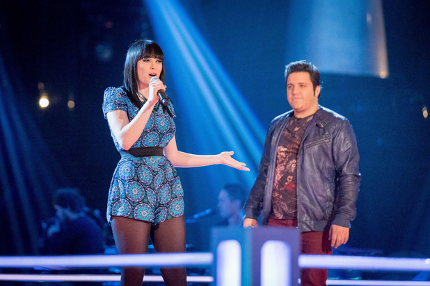 Christina Marie and Nathan Amzi battle on The Voice