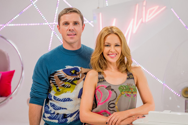 Kylie Minogue and Jake Shears on The Voice