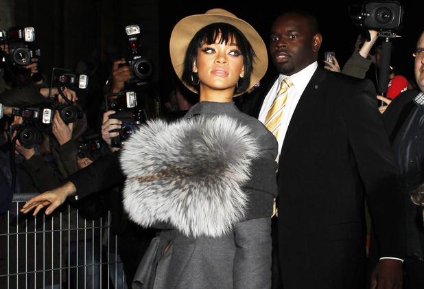 Lanvin show, Autumn Winter 2014, Paris Fashion Week, France - 27 Feb 2014 Rihanna