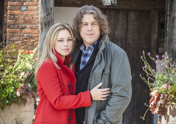 Sarah Alexander and Alan Davies as Polly and Jonathan Creek