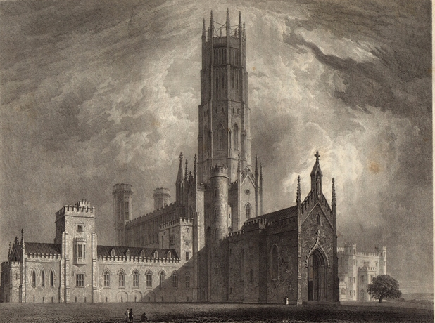 The exterior of Fonthill Abbey