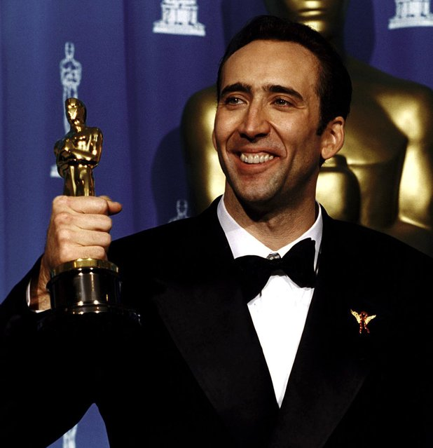 Nicolas Cage at the 1995 Oscars