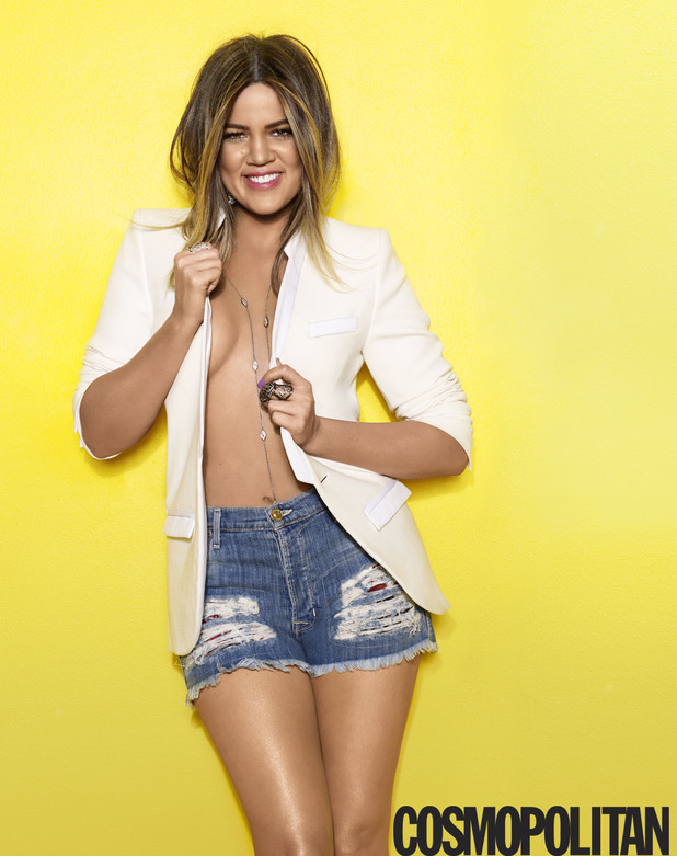 Khloe Kardashian photoshoot for Cosmopolitan