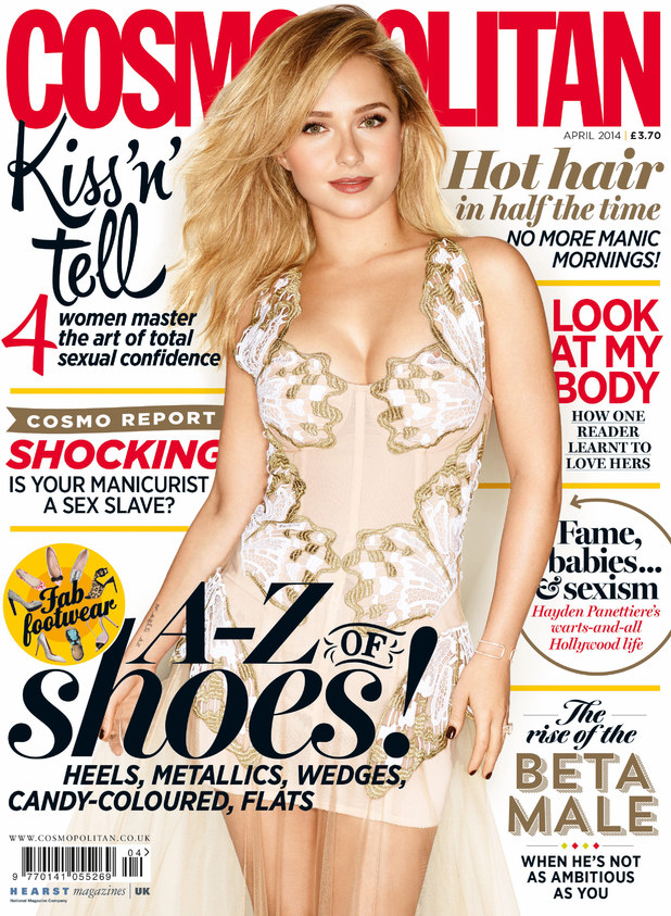 Hayden Panettiere on the April cover of Cosmopolitan