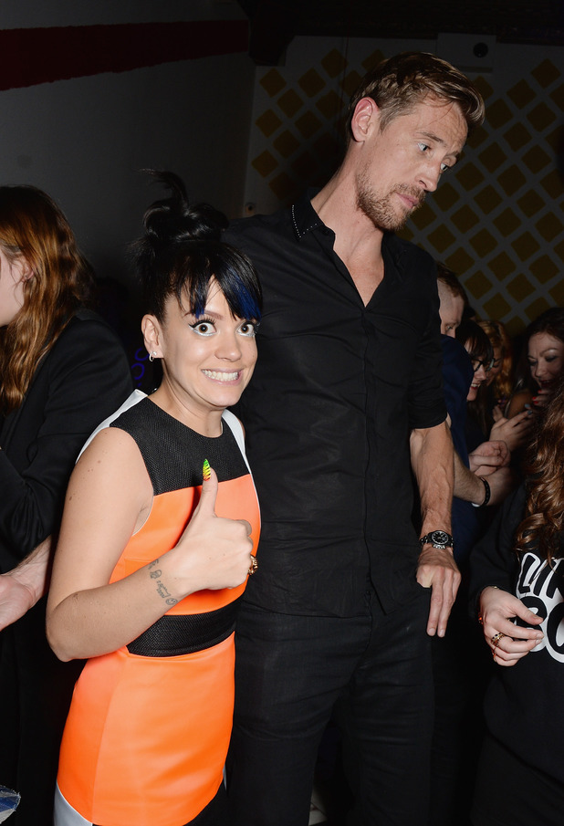 Lily Allen and Peter Crouch