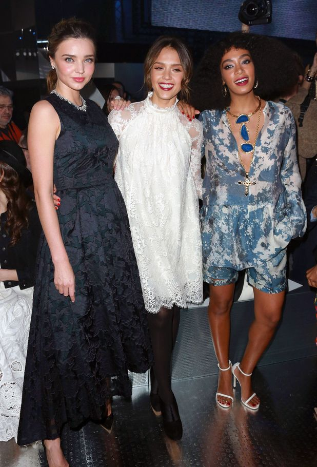 Miranda Kerr, Jessica Alba and Solange Knowles