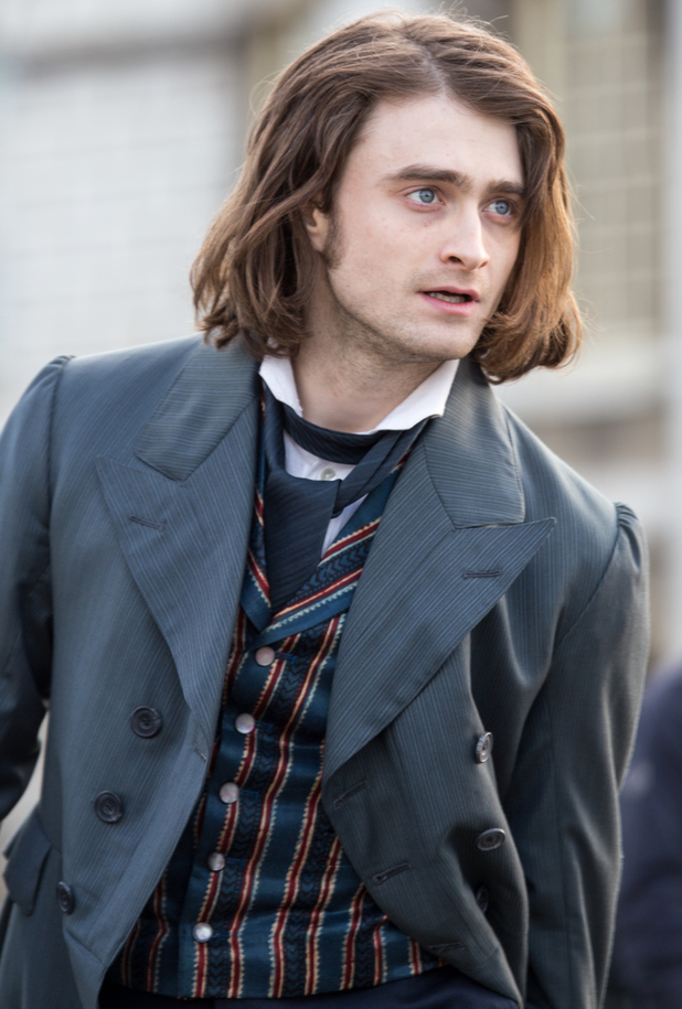 Daniel Radcliffe shooting scenes for the film remake of 'Frankenstein'