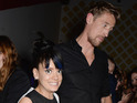 A starstuck Lily Allen gives Peter Crouch the thumbs-up in today's gallery.