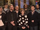 Girls' Lena Dunham, The National get bad TV pitches in SNL promo - video