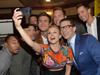 Veronica Mars selfie, Cowell date night: What the celebs are up to