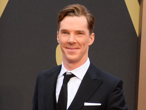 Benedict Cumberbatch arrives at the Oscars on Sunday, March 2, 2014, at the Dolby Theatre in Los Angeles.