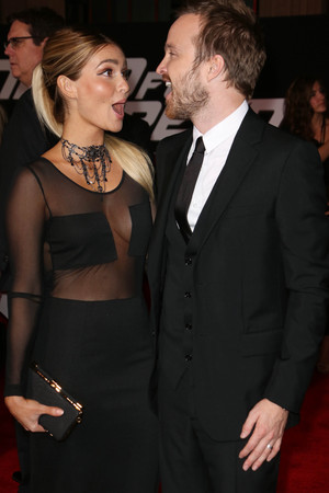 'Need For Speed' film premiere, Los Angeles, America - 06 Mar 2014 Aaron Paul and Lauren Parsekian