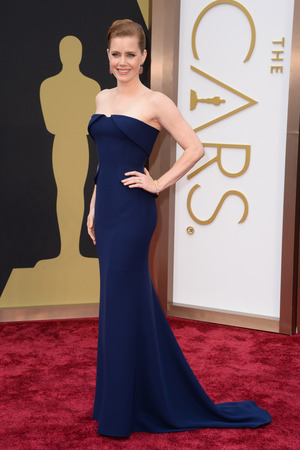 Amy Adams arrives at the 86th Academy Awards.