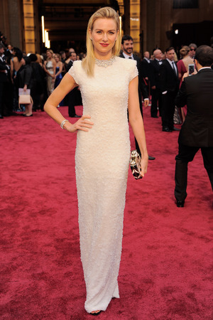 Naomi Watts arrives at the 86th Academy Awards.