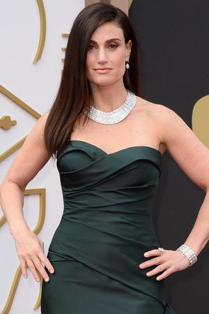 Idina Menzel arrives at the 86th Academy Awards.