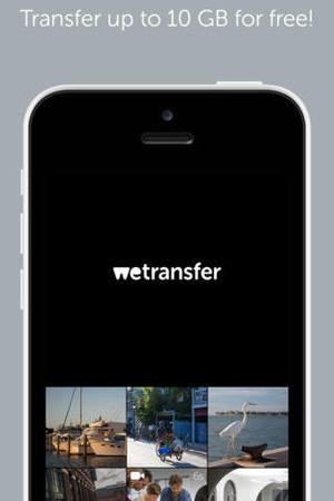 WeTransfer mobile app for iOS