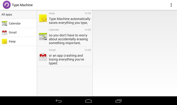 Type Machine mobile app for Android