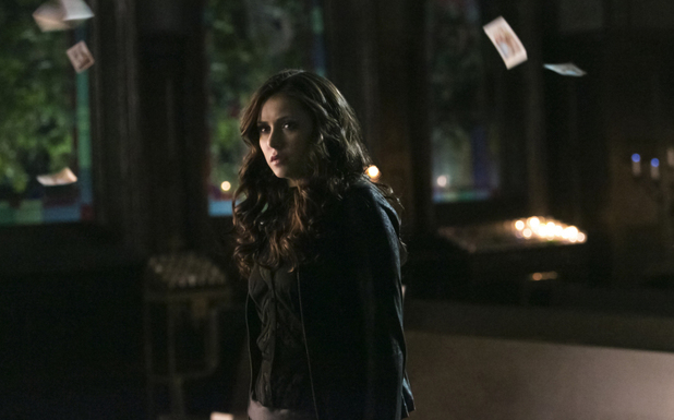 Nina Dobrev as Katherine in The Vamprie Diaries S05E15: 'Gone Girl'