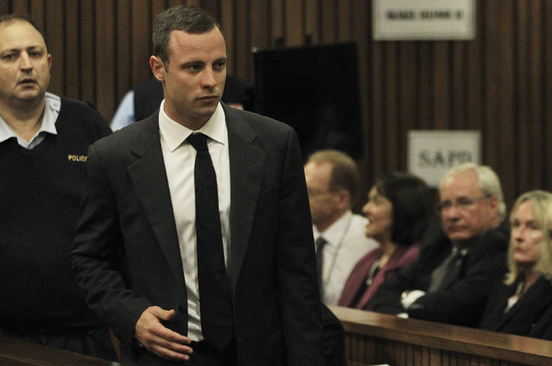 Oscar Pistorius arrives at court in Pretoria
