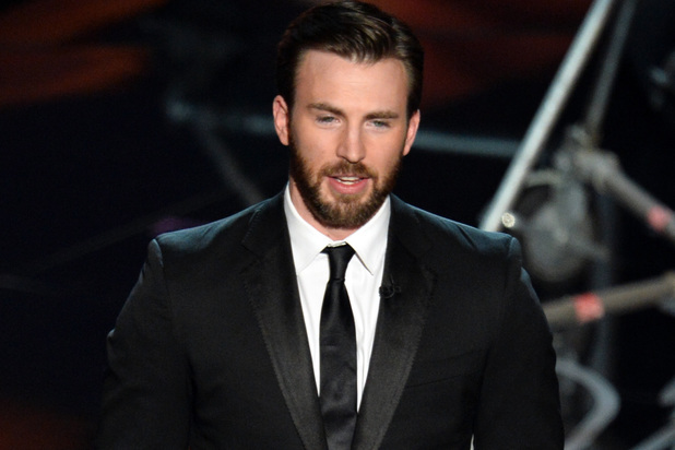 Chris Evans onstage during the Oscars 2014