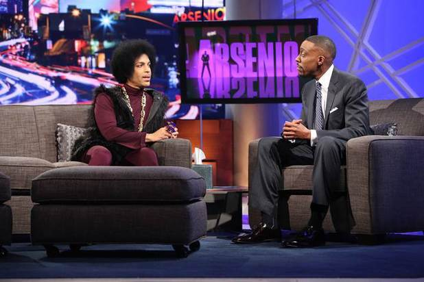 Prince appears on The Arsenio Hall Show
