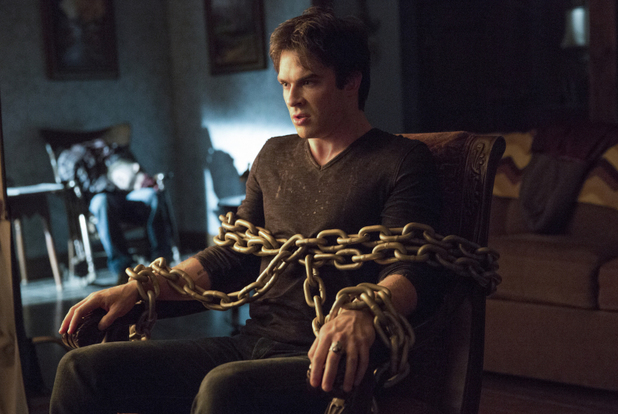 Ian Somerhalder as Damon in The Vampire Diaries S05E14: 'No Exit'